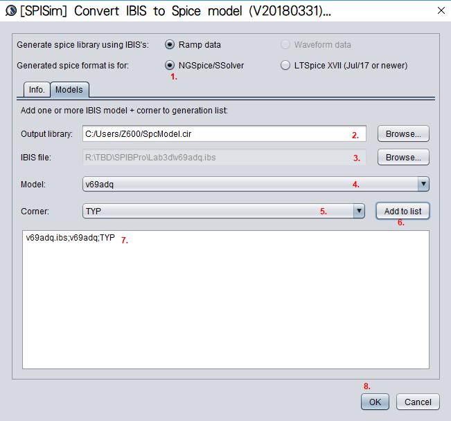 SPISim_IBIS: A free web app for simulating IBIS using free